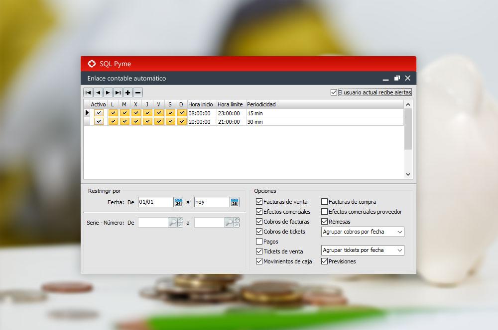 enlace contable automático