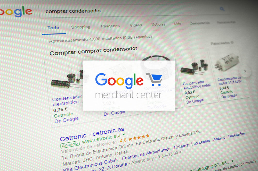 generación feeds google merchant