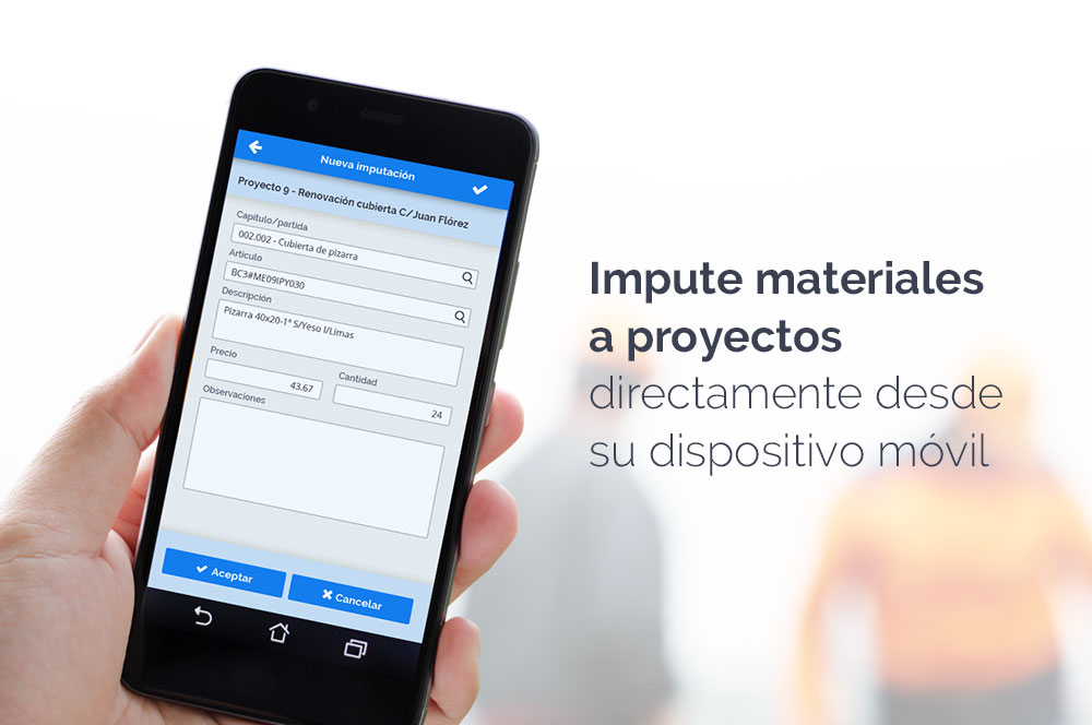 imputar materiales a proyectos mPYME