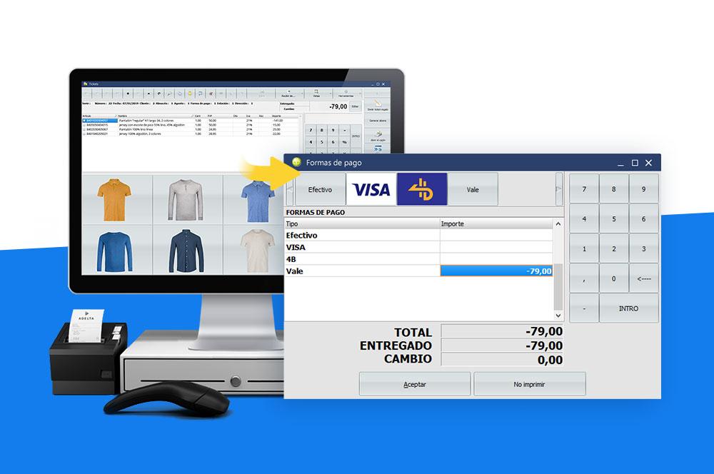 emitir un vale para una devolución de cliente