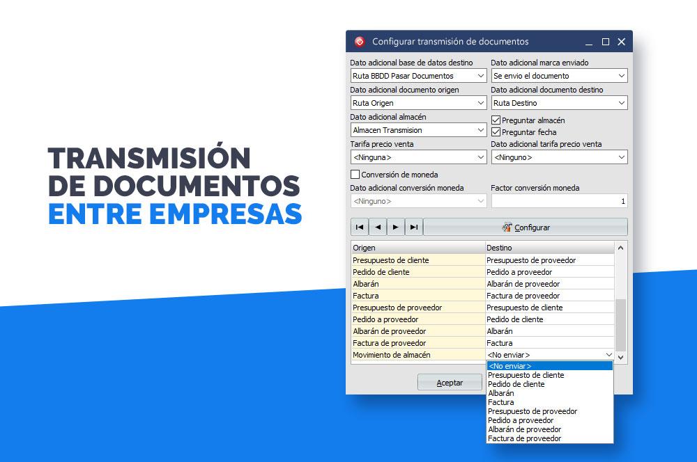 transmisión de documentos entre empresas